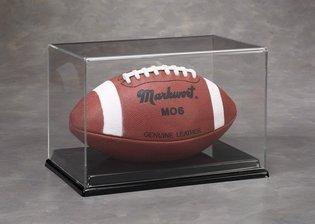 Volle Größe Fußball Display Case mit einer schwarz angesaugten Boden von n-case ES