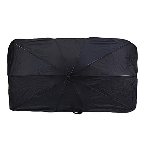 ZYYXB Parasol protector de parasol para ventana delantera de coche, protector de sol interior, accesorios de protección para parabrisas, color plateado L