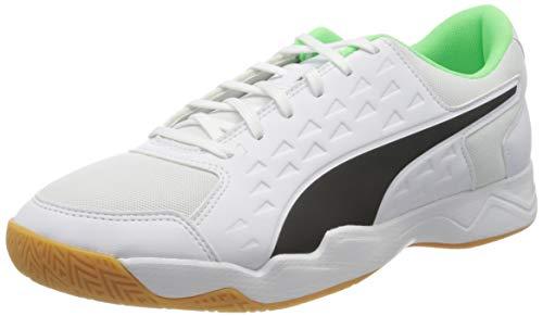 PUMA Herren Auriz Fußballschuh, White Black-Elektro Green-Gum, 44.5 EU