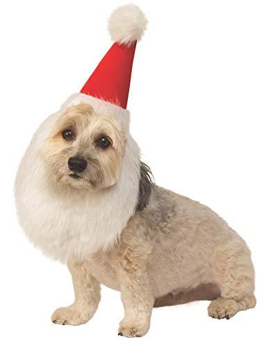 Rubie's Christmas Pet Costume, Medium to Large, Santa Claus Hat and Beard
