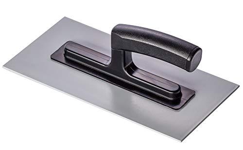 Colorus Profi Glättekelle 280 x 140 mm | Glättkelle aus Kunststoff, rostfrei | Traufel mit Kunststoffgriff| Kunststoffkelle Glattkelle | Kelle Trockenbau