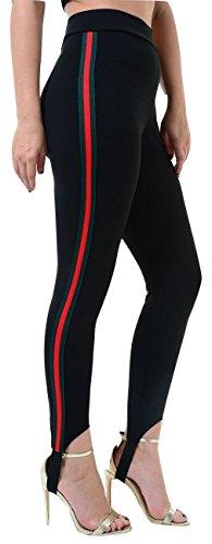 Momo&Ayat Fashions Dames Effen Zijstreep Panel Jumpsuit Crop Top Ski stijgbroek Bomber Jacket Activewear Loungewear UK Maat 8-14