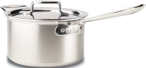 All-Clad BD55204 D5 Stainless Steel Sauce Pan Cookware, 4-Quart, Silver