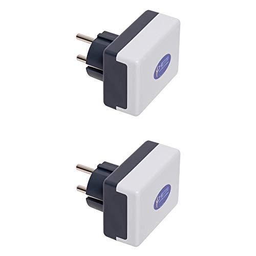 CHI-Netzstecker - 2 Stück. - Optimale Praevention bei Elektrosmog - Bis 220 qm - 5G optimiert - Strahlenschutz Made in Germany