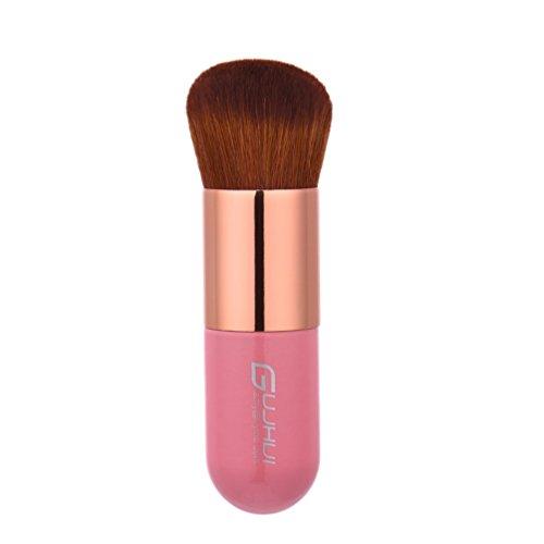 Fashion Base® Hot Best Deal 1 pcs Rose Cheveux bruns Fond de teint Brosse Plate le Portable BB Cream Pinceaux de maquillage professionnel Kabuki Contour Brosse outils de beauté