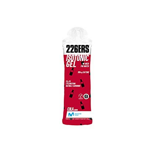 226ERS Isotonic Gel   Gel Isotónico con 100 mg de Cafeína y Ciclodextrina como Hidrato de Carbono, Gel Enérgetico Doping Free para Hidratación, Energía y Resistencia, Cola - 24 unidades