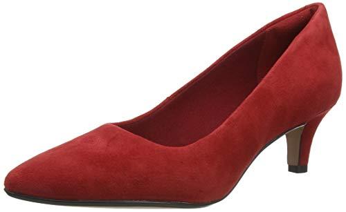 Clarks Linvale Jerica, Zapatos de Vestir par Uniforme Mujer, Rojo Cereza, 39 EU