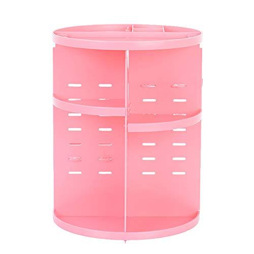WANGLXCO Beau Rotatif Maquillage Organisateur, 360 Degrés Rotatif Présentoir Cosmétique, Organisateurs Salle De Bains Étagères Comptoir Organisateur Cosmétique De Stockage Hermétique, Pink