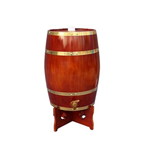 ZSYGFS Barril Roble Barril de Roble 25L, Dispensador de Vino de Barril de Madera para Almacenar Bebidas Espirituosas de Tequila de Whisky (Color : Chocolate, Size : 25L)