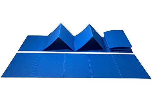 Tappetino Palestra Materassino Fitness Pieghevole Tappetino Antiscivolo 185x50x0,8 cm Materasso Yoga Colore Blu (Blu)