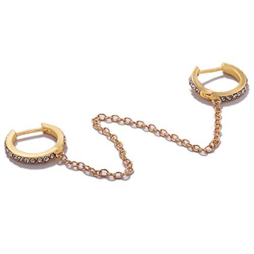#N/A Xufeisac Einseitige Doppelohrringe Doppelstecker Ohrring Punk Rock Ohrring Mädchen Frauen Zubehör