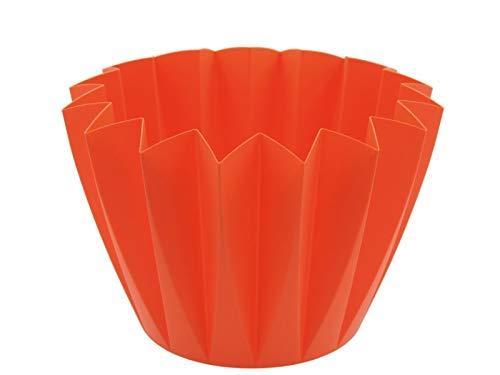 Blumentopf Übertopf ADONIS Ø11cm oder Ø14cm aus Kunststoff in tollen Farben (Ø 14 cm x Höhe 11 cm, Mango)