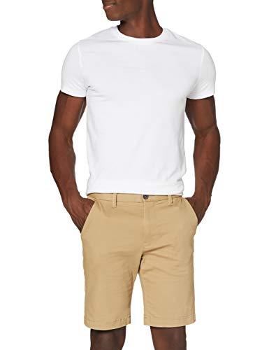 Marque Amazon - MERAKI Short Classic Chino - Shorts - Chino - Homme - Beige - M