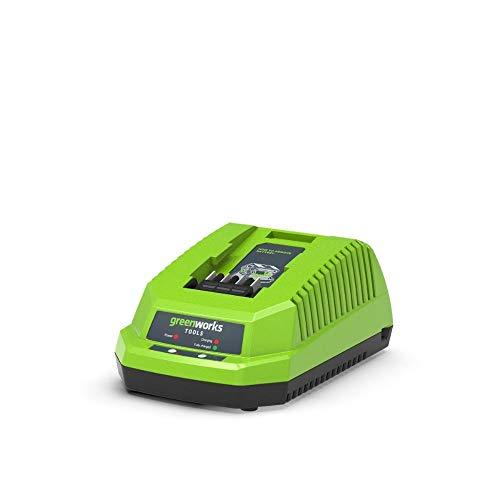 Greenworks Akku-Schnellladegerät G40UC (Li-Ion 40 V 2,2A 60 min Ladezeit bei 2Ah Akku passend für alle Geräte und Akkus der 40 V Greenworks Tools Serie)
