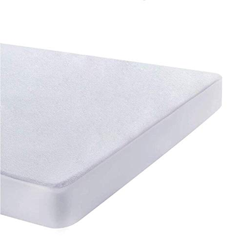 UMI. Essentials Waterproof Mattress Protector Terry Cotton Cover - Fitted, European Double (140x190/200cm)