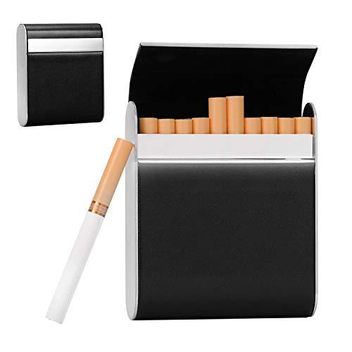 LAOYE Zigarettenetui Edelstahl Zigarettenschachtel Box Zigarettencase Metall Zigarettenhülle Zigaretten Kasten, 20er Standard Schachteln für Männer Frauen Damen Geschenk Business