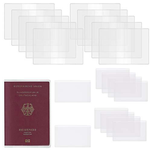 Fundas de Pasaporte Transparente JOOPOM Funda de Plastico para Tarjetas Cubierta de PVC para Protector Pasaporte Viaje y Tarjeta de Credito (20 Piezas)