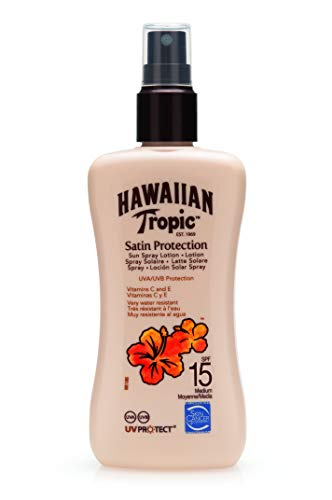 Hawaiian Tropic Satin Protection Sun Spray Lotion Sonnenspray LSF 15, 200 ml, 1 St
