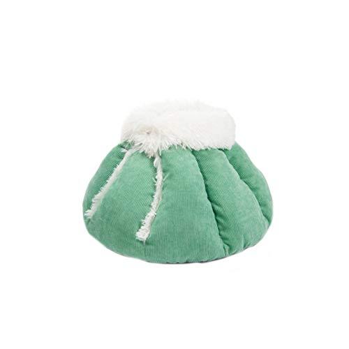 Tfwadmx Bonita cama de chinchilla de felpa, suave y redonda, para interior de invierno, para mascotas pequeñas, conejo, ardilla, gatito, perro pequeño