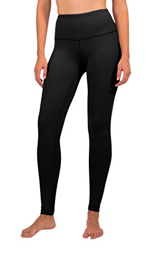 90 Degree By Reflex - High Waist Power Flex Legging - Tummy Control - Black Large