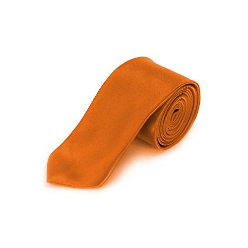 Corbata estrecha Naranja naranja