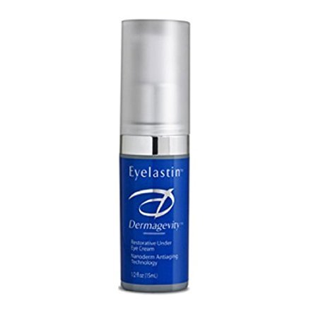 Eyelastin - Best Age Defying Anti-Wrinkle Eye Cream For Radiant, Vibrant and Younger Looking Eyes - Reduces Puffiness and Dark Circles - Drastically Improves Hydration, Firmness and Elasticity Around Eyes - Peptide Technology, Hyaluronic Acid, Vitamin K, Arnica, Jojoba and Apricot Oil - 0.5 oz