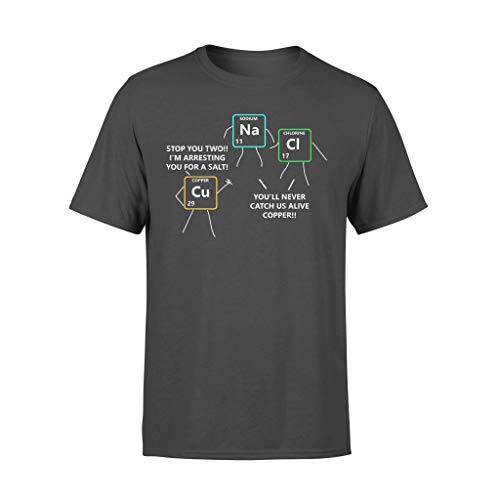 SaltandCopperPeriodensystemPoliceWortspielChemie-StandardT-Shirt_BlackL011 Black L