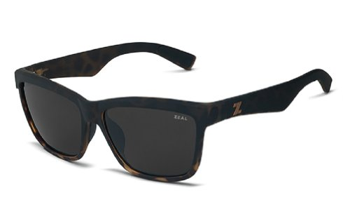 Zeal Optics Kennedy Polarized Sunglasses - Torched Tortoise Frame with Dark Grey Lens by Zeal Optics