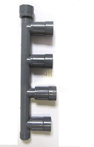 """Rain Bird PVC-Verschraubung/Verteiler Magnetventile 4-Fach Verteiler 1"""" Innengewinde x 1"""" Außengewinde; 4 Auslässe: 1"""" Innengewinde"""