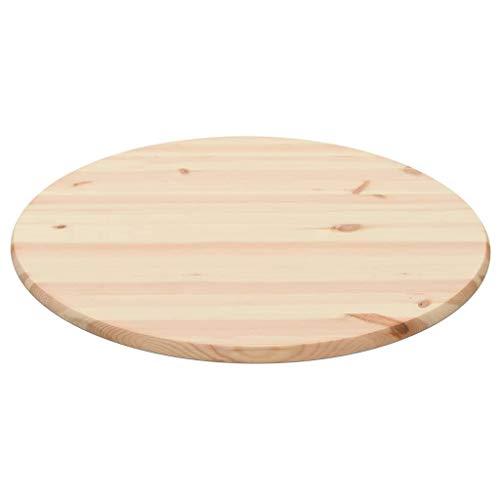vidaXL Kiefernholz Tischplatte Rund 25 mm 80cm Holz Platte Holzplatte Esstisch