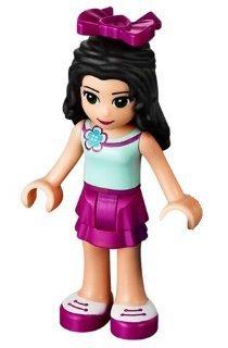 LEGO Friends: Emma (Lumière Bleu Chemise, Magenta Jupe) Mini-Figurine Avec Bow