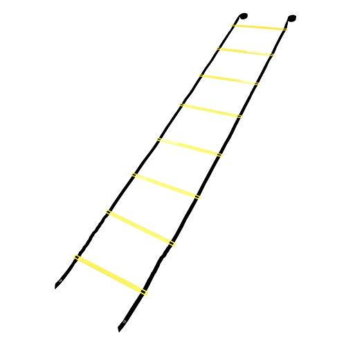 Zerone Agility Ladder Speed Ladder, 4 m, 8 Sprossen für Kinder und Erwachsene, Fußball, Geschwindigkeitstraining