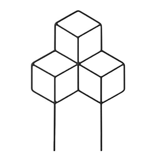 Hemoton Rankgitter Kletterpflanzen Rankstütze Eisen Blumenstütze Metall Blumenkasten Topfpflanzen Rankhilfe Rankpflanzen Rattan Blumen Kletterhilfe Gartenarbeit Gartengestaltung Schwarz