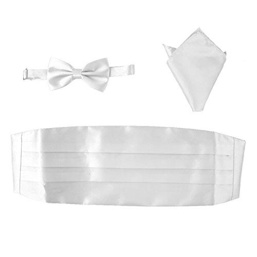 Set de 3 piezas, fajín, pajarita y pañuelo de bolsillo para traje