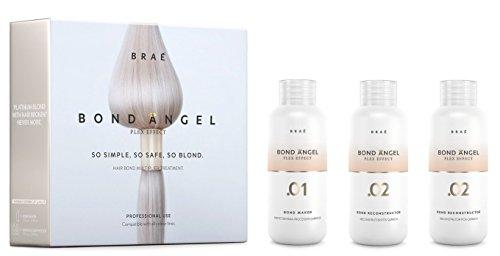 Bond Angel Plex Effect, juego de tratamiento de Bond para protección durante decoloración o coloración para todo tipo de cabello, pasos 1, 2, 2