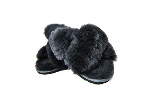 Merino Wool Bedding Slippers voor dames, elegant, warm, pluche, flip-flops, wol