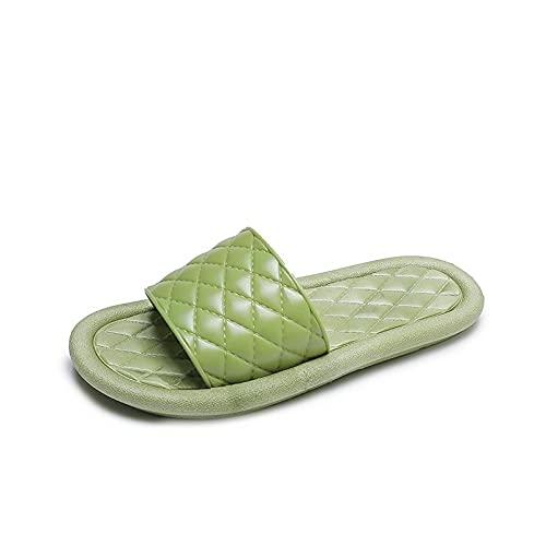 ZZLHHD zapatos de ducha, zapatillas de seda, zapatillas de interior para el hogar, -green_38, zapatillas de spa