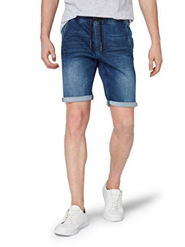 TOM TAILOR Denim Herren Sweat Shorts, Blau (Blue Denim 10110), X-Large