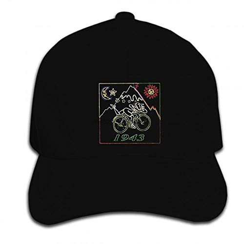 PRWJH Herren Outdoor Baseball Caps Baseball Cap Hip Hop Fahrrad Tag Bikeer Hofmann Acid Party Hat Peaked Cap