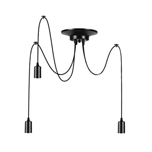 Vintage Pendelleuchte Industrielle Deckenleuchte höhenverstellbar Hängeleuchte E27 DIY Lampe für Esszimmer Restaurant Café Bar usw. (ohne Birne) - 3 Kopf