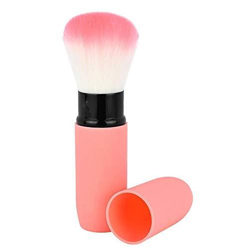 Cheveux fins cylindrique brosse rétractable uniforme peau naturelle couvrant fard à joues maquillage pinceau-rouge