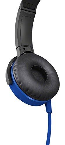 Sony MDR-XB450APL Extra-Bass Kopfhörer mit integriertem Mikrofon blau