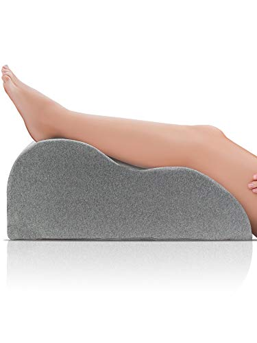 DYNMC you Venenkissen für die Beine mit Oeko TEX 100 Bezug - Großes Beinkissen extra Bequemes Fußkissen - Beinhochlagerungskissen für Schwere Beine & Beinauflage bei Wassereinlagerungen (Grau)