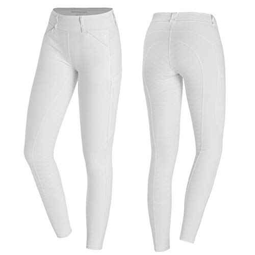 Schockemöhle Damen Reitleggins Tights weiß Größe/Farbe 36 / Weiss