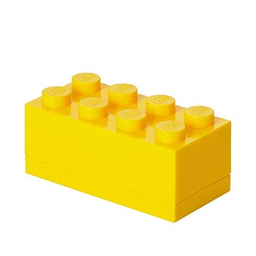 LEGO 4012 Minicaja de 8 espigas, Caja para tentempiés, Amarillo, One Size