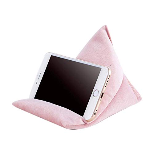 aycpg Laptop pillow holder Soft Pillow Tablet pillow pillow stand anti-slip triangle tablet pillow stand reading pillow tablet holder for iPads, tablets, e-readers, smartphones- Gray (Color : Pink)