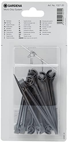 Gardena Micro-Drip-System Rohrhalter: Leitungshalter mit 4.6 mm (3/16 Zoll), zur Führung und Befestigung des Verteilerrohrs in der Erde (1327-20)