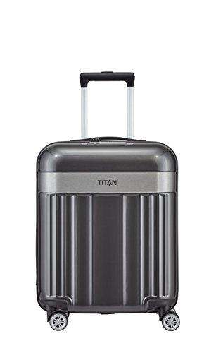TITAN 4-Rad Handgepäck Koffer mit TSA Schloss, erfüllt IATA Bordgepäckmaß, Gepäck Serie SPOTLIGHT: Edler Bordgepäck Trolley in trendigen Farben, 831406-04, 55 cm, 37 Liter, anthracite (grau)