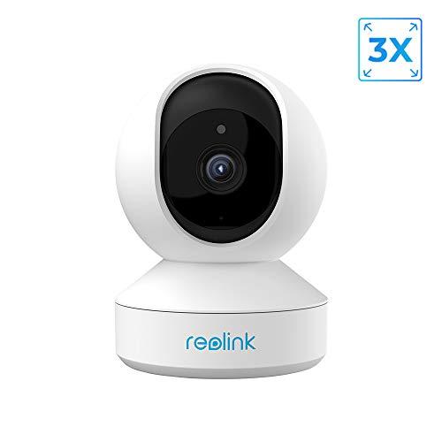 Reolink 5MP PTZ babyfoon slimme beveiligingscamera, 3X Optisch Gezoem 2.4/5GHz Dual-Band WiFi Draadloze Binnencamera, 2-Wegs Audio, WiFi CCTV IP Camera voor de Ouderen, Huisdier (E1 Zoom)