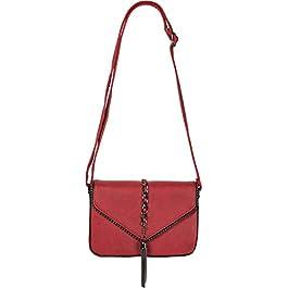 styleBREAKER Sac à bandoulière pour Femme Style enveloppe avec des Rivets en Forme de Boule, Une chaîne et des Glands…